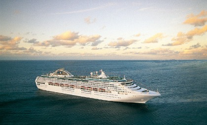 De Sea Princess van rederij Princess Cruises