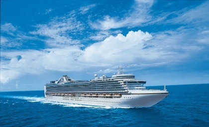 De Emerald Princess van rederij Princess Cruises