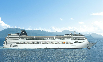Cruiseschip MSC Lirica van rederij MSC cruises