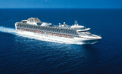 De Diamond Princess van rederij Princess Cruises