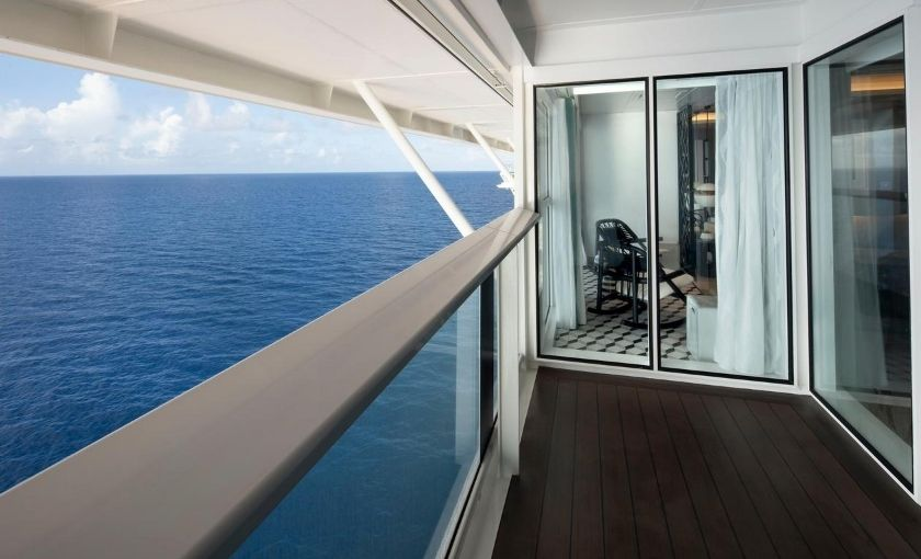 Celebrity Edge royal suite balkon