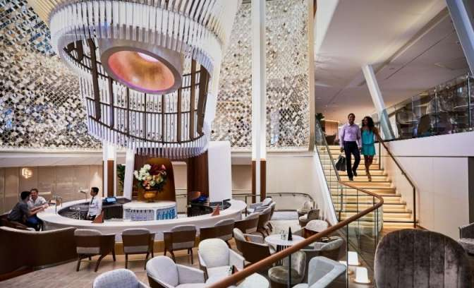 Celebrity Edge Martini bar at Grand Plaza